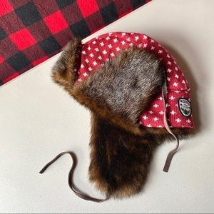ROOTS floppy Russian cabin style winter hat 🖤❤️✨